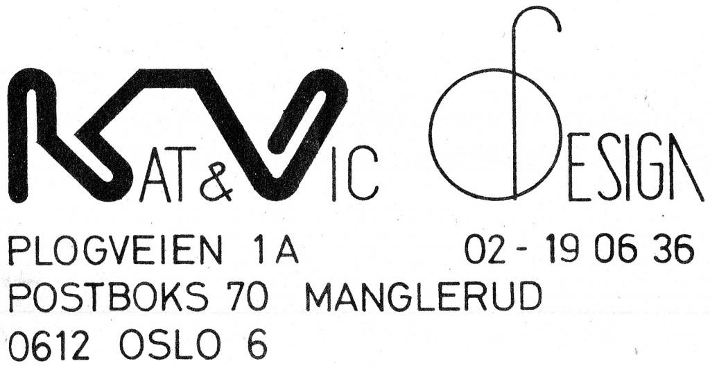 Første visittkort Kat & Vic Design